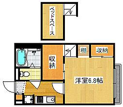 大阪府大阪市西成区松2丁目の賃貸マンションの間取り