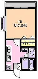 ロイヤルコート南行徳[107号室]の間取り