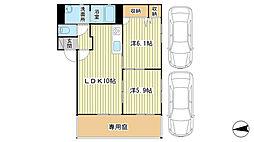 シャーメゾン桜[1階]の間取り