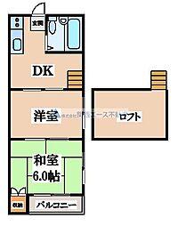 エニシダ鶴橋[2階]の間取り