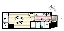 GRAN PASEO麻布十番 2階1Kの間取り