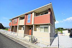 福岡県田川市大字弓削田の賃貸アパートの外観