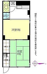 福原富士見第一ビル[101号室]の間取り