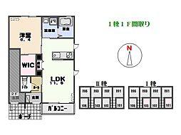 レスポワール I[1階]の間取り