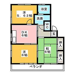 ボヌールメゾン[1階]の間取り