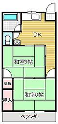 大阪府摂津市正雀3丁目の賃貸マンションの間取り
