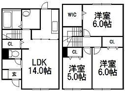 [テラスハウス] 北海道札幌市豊平区月寒東三条17丁目 の賃貸【/】の間取り
