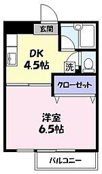 ラフェスタ旗ヶ崎[2階]の間取り