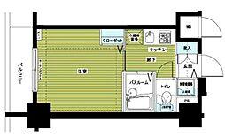 東京メトロ銀座線 銀座駅 徒歩6分の賃貸マンション 3階1Kの間取り