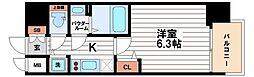 ララプレイス大阪城公園ヴェルテ[8階]の間取り