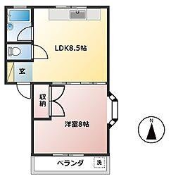 コウリュウマンション[2階]の間取り