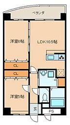 E.POPULAR Ⅱ[5階]の間取り