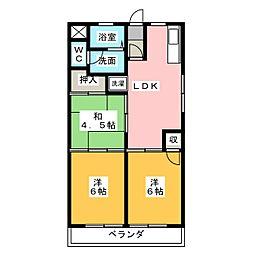 つげビル[6階]の間取り