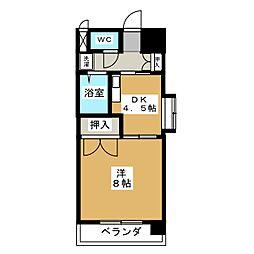 サザン名駅EAST[2階]の間取り
