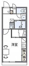 神鉄三田線 三田本町駅 徒歩4分の賃貸アパート 2階1Kの間取り