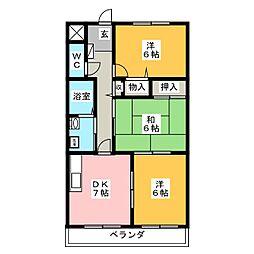 メゾンドスイートI[3階]の間取り