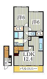 フォルテシモ[2階]の間取り