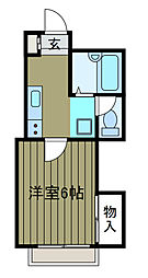 神奈川県川崎市麻生区百合丘2丁目の賃貸アパートの間取り