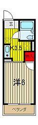 ドミトリ−中浦和[1階]の間取り
