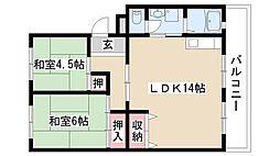 愛知県名古屋市緑区鳴海町字上ノ山の賃貸マンションの間取り
