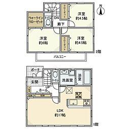 [一戸建] 神奈川県大和市西鶴間7丁目 の賃貸【神奈川県 / 大和市】の間取り
