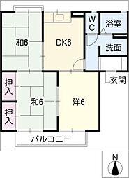 カーサ フローラ A棟[2階]の間取り
