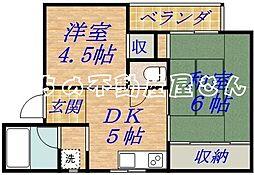 パームガーデンシロキタ[2階]の間取り