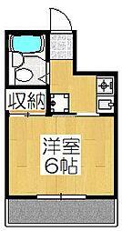 ハイツブルーム[2階]の間取り