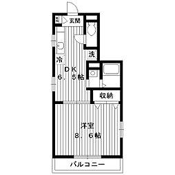 東京都練馬区早宮1丁目の賃貸マンションの間取り
