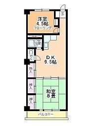 奥平マンション[402号室]の間取り