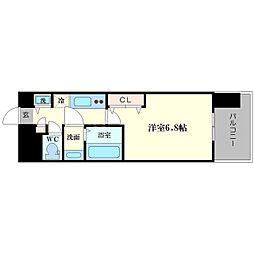 セオリー大阪ベイステージ 5階1Kの間取り