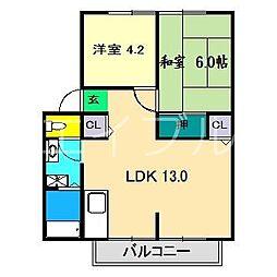 イチゴハイツI A棟[2階]の間取り