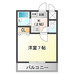 シティライト江坂[2階]の間取り