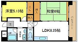 ノーブルハウス関井[6階]の間取り