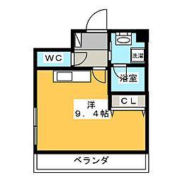 コスミオン[8階]の間取り