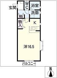 イーハトーブA棟[1階]の間取り