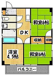 北栄ハイツ[2階]の間取り