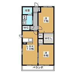 レトアSAWA[2階]の間取り