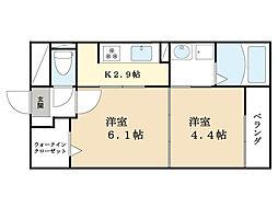 レジデンス松井山手 3階1DKの間取り