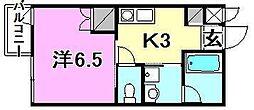 ジャンヌ喜与町[308 号室号室]の間取り