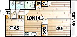 シャトレーゼ熊本[3階]の間取り