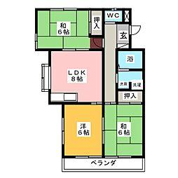 サンシャインマンション2[4階]の間取り