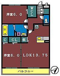 アトリア1[302号室]の間取り