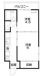 岩井コーポラス[2階]の間取り