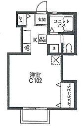 ジョイコーポ座間C棟[102号室]の間取り