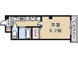 アミティ小阪[202号室]の間取り