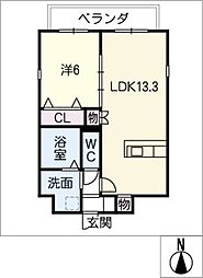 仮)四軒家マンション[6階]の間取り