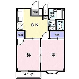 コーポアベニール[2階]の間取り