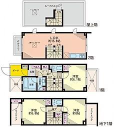 ラ・ピアッツァ上野毛 1階[1階]の間取り