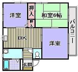 コンフォート和泉[2階]の間取り